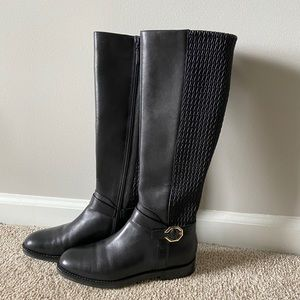 Cole Haan Black Leather Riding Boots Size 7